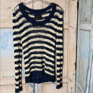 Blue and Cream Sweater by Rag & Bone